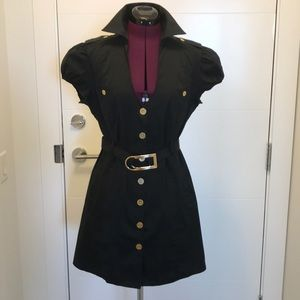 Marciano Button Down Belted Dress